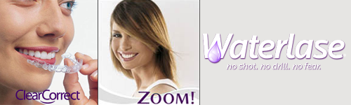 Zoom, Waterlase, invisalign